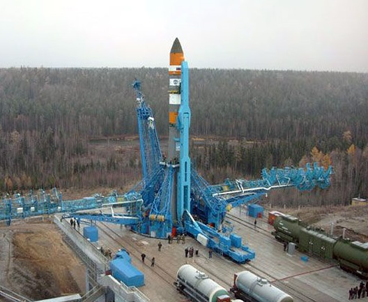 The Angara space rocket in the Plesetsk cosmodrome.