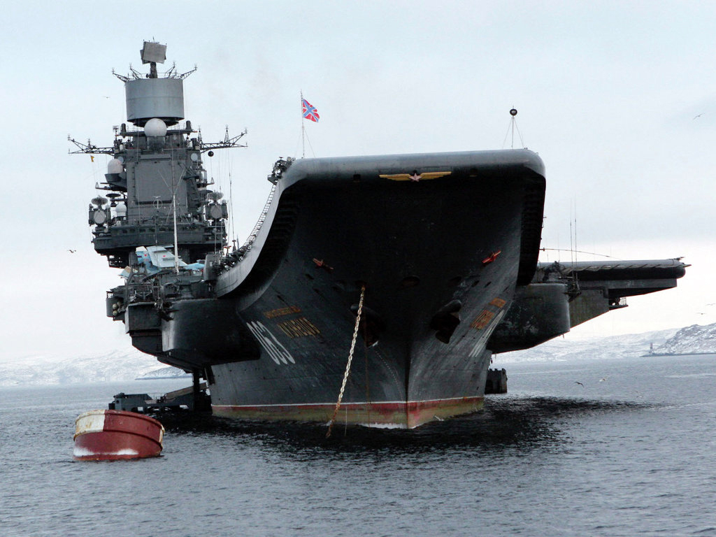 Kuznetsov before departing to the Mediterranean.