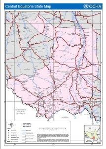 Central Equatoria State map