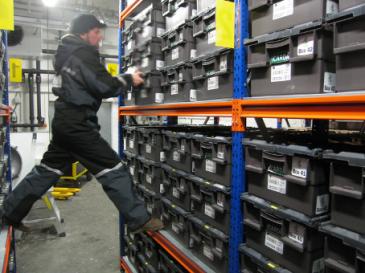 Shelves inside the vault
