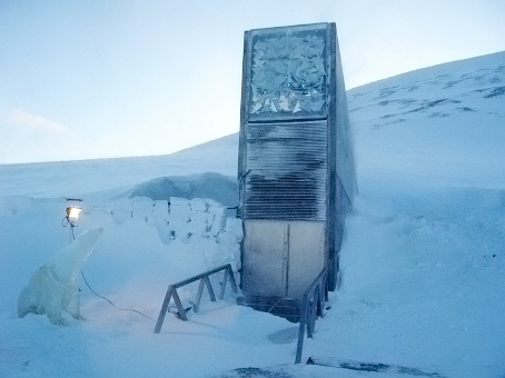 Entrance to the Svalbard Global Seed Vault