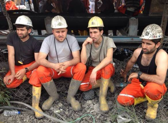 Miners in Soma, waiting for news from the mines. Photo: Wikipedia