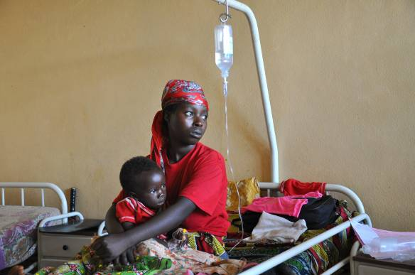 During civil war, a country's health services are at their weakest just when they are needed most. Malaria patients at hospital in Burundi. Photo: UN Development Programme via Flickr