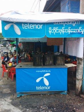 Telenor in Myanmar. Photo: Wayan Vota via Flickr