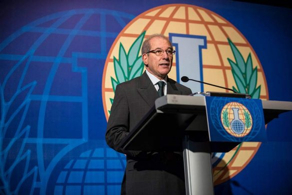 Last year's surprising Nobel Peace Prize winner, the Organisation for the Prohibition of Chemical Weapons, here represented by Director-General Ahmet Üzümcü. Photo: OPCW