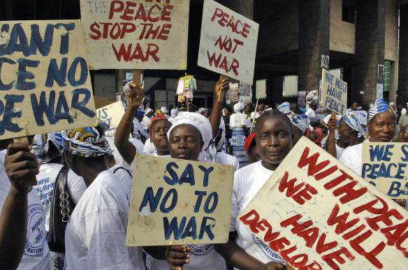 International women's day demonstration in Monrovia, Liberia.  Photo: UNMIL