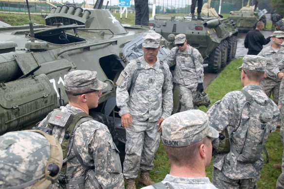 Image from the Rapid Trident 2014 training exercise which took place in Ukraine during September 2014 and involved troops from Ukraine, NATO members and other states.