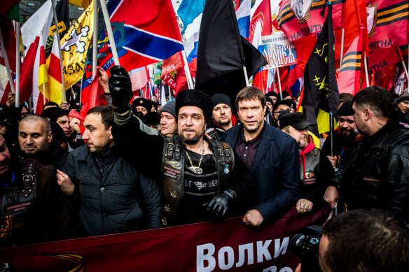 "The ""patriotic"" rally in Moscow was not pretty. Photo Novaya gazeta."