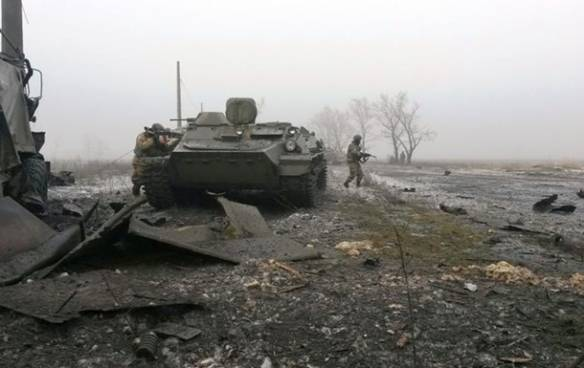 In the fog of winter war in Ukraine.
