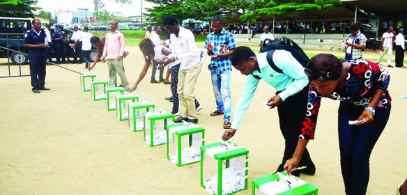Student elections in Calabar, Nigeria.
