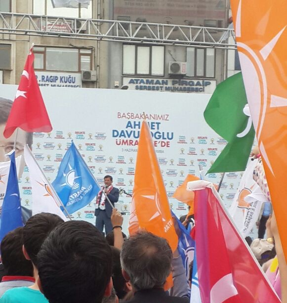 Justice and Development Party (AKP) electoral rally in Ümraniye, İstanbul, for the 2015 Turkish general election. Photo: Nube Cake, via Wikipedia