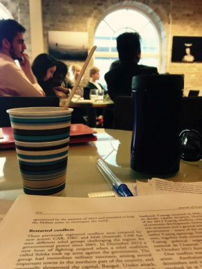Coffee and Peace Research. The picture is taken during a seminar in PRIO's Philosopher's Hall. PHOTO: Jelena Milenkovic.