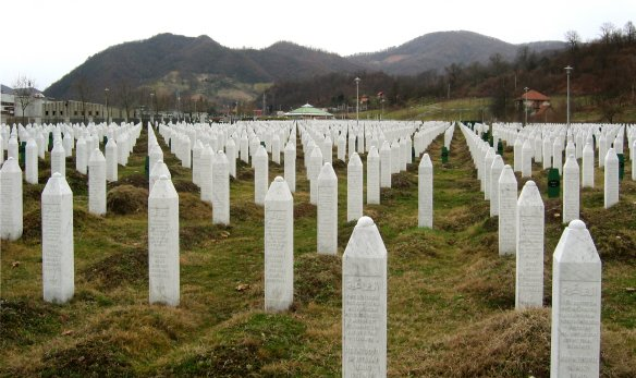 Gravestones at the Potočari genocide memorial near Srebrenica. Photo: Michael Büker