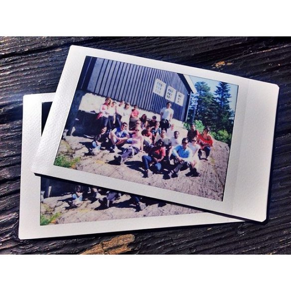 Polaroid pictures from this year's cabin trip. Photo by summer school student Pedro Henrique Souza.