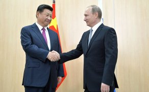 Vladimir Putin and Xi Jinping at the BRICS summit 2015. Photo: Wikimedia Commons