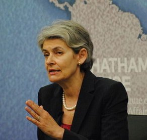 Irina Bokova, Secretary General of UNESCO. By Chatham House, London [CC BY 2.0 (http://creativecommons.org/licenses/by/2.0)], via Wikimedia Commons