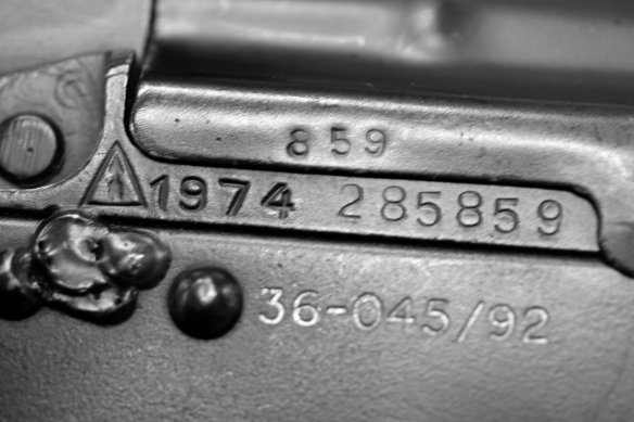 Tracing firearms by serial numbers is a valuable aid in fighting crime. Photo: OSCE