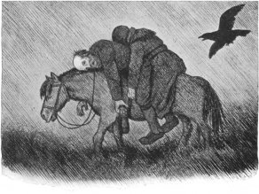 "From the Norwegian artist Theodor Kittelsen's collection""Pesta"", illustrating the Black Death."