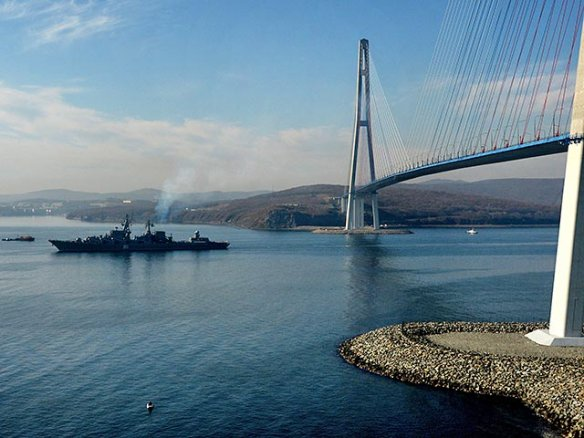 Russian missile cruiser Varyag has left its home port Vladivostok and arrived to the Mediterranean.