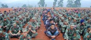 Regrouping of ex-combatants in Nepal. Photo: Chiranjibi Bhandari