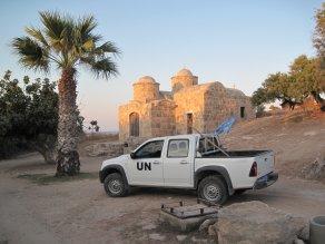 UN patrol in the buffer zone in Cyprus. Photo: Dick Elbers